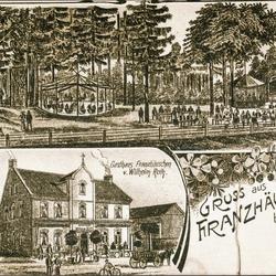Gezeichnete Ansichtskarte um 1900