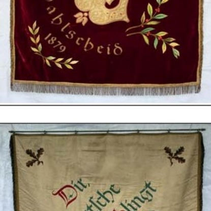 Die zweite Fahne von 1954. Vorder-und Rückseite.