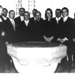 Presbyterium 1972, vlnr: Pfr. Ulrich Dahm; Predigthelfer Heinz-Günter Ziegert; Horst Keuch, Durbusch; Gert Gronewald, Honrath; Richard John, Helten; Günter Nagel, Schachenauel; Elisabeth Maier, Honrath; Erika Unger, Scheid; Adolf Flick, Scheid; Günter Steeger, Hohnenberg; Ernst Volberg, Durbusch; Karl Frackenpohl (verdeckt), Schnellhaus