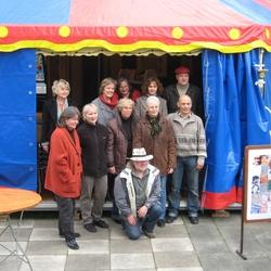 Blaues Zelt auf dem Rathausvorplatz, Kulturtage 2008