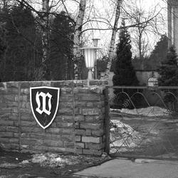 Zufahrt zum Bundeswehrgelände. Foto: Alfred Bergmann