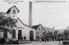 """Postkarte aus dem Jahre 1914 mit dem """"Ahl Brennes"""" (Alte Brennerei) und der Gaststätte Aggerhof"""