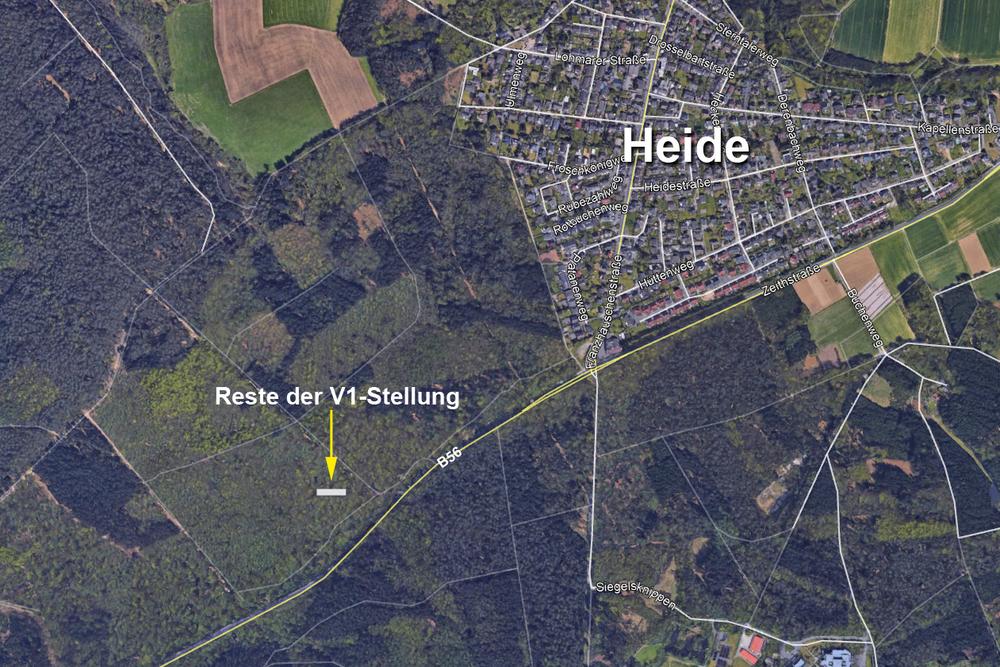 Reste einer V1-Stellung bei Heide