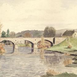 Alte Donrather Aggerbrücke, Gemälde von Wilfriedo Becker