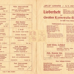 Liederheft KAZI/SVLohmar 1949/50
