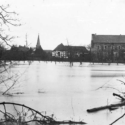 Hochwasser 1926/28, Blick vom Ziegenberg