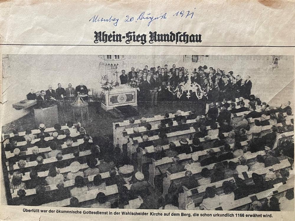 Rhein-Sieg Rundschau 30.8.1971