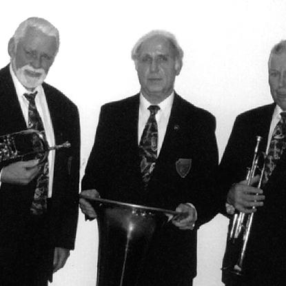 Gründungsmitglieder vlnr.: Ernst Mester, Karl Frielingsdorf und Karl Tenten