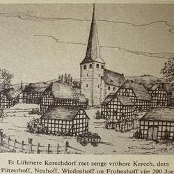Rekonstruktion Kirchdorf von 1767, Zeichnung G. S. Klein
