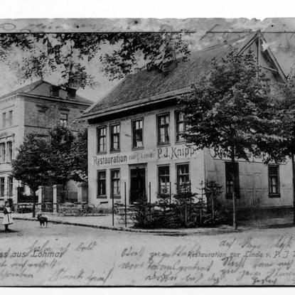 Die Postkarte trägt den Poststempel vom 4.9.04 und dürfte um 1900 gedruckt worden sein