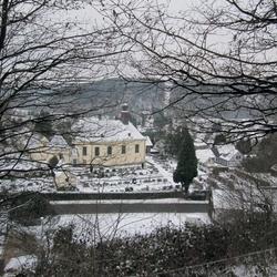"""Blick vom Kalvarienberg (""""Baacher Berg"""")"""