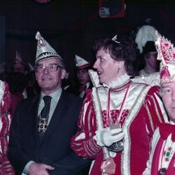 1983, Bernhard Walterscheid-Müller  mit Prinzenpaar Gunter I. u. Uschi I. (Führitz) u. Adjudant Hans Braschoß