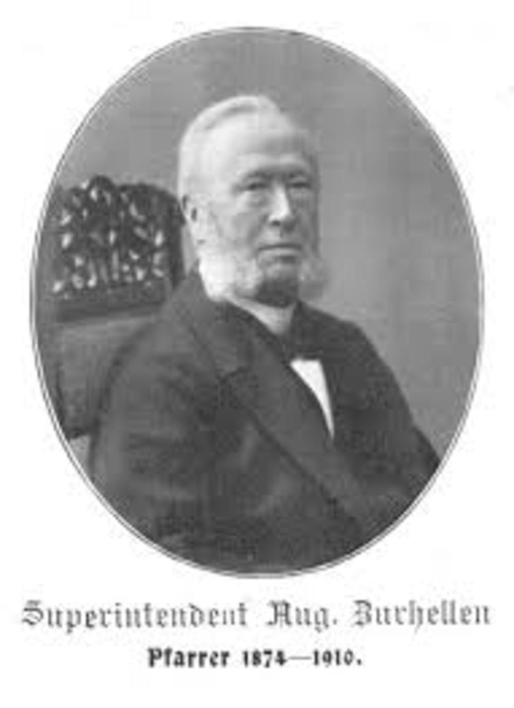 Pfarrer August Wilhelm Zurhellen 1865 - 1874