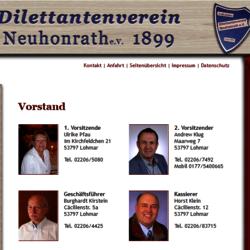 Vorstand 2020 www.dilettantenverein-neuhonrath.de