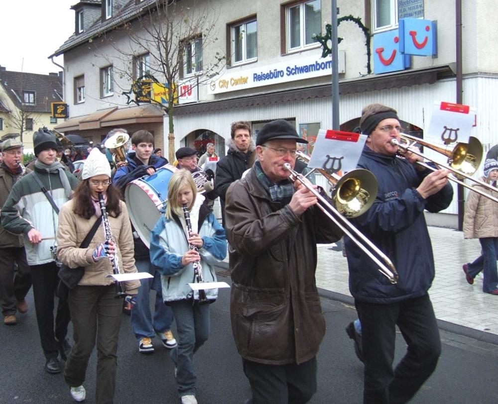 """""""Kleine Eröffnung"""" mit Blasorchester Lohmar am 27. November 2005"""