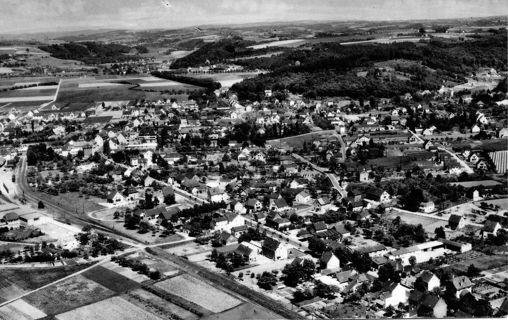 Luftbild Ende 1950er Jahre in nordöstliche Richtung
