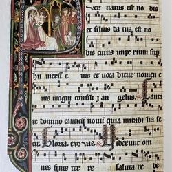 Gregorianischer Introitus: Puernatus est nobis, et filius datus est nobis....(Ein Kind ist uns geboren,und ein Sohn ist uns geschenkt...)