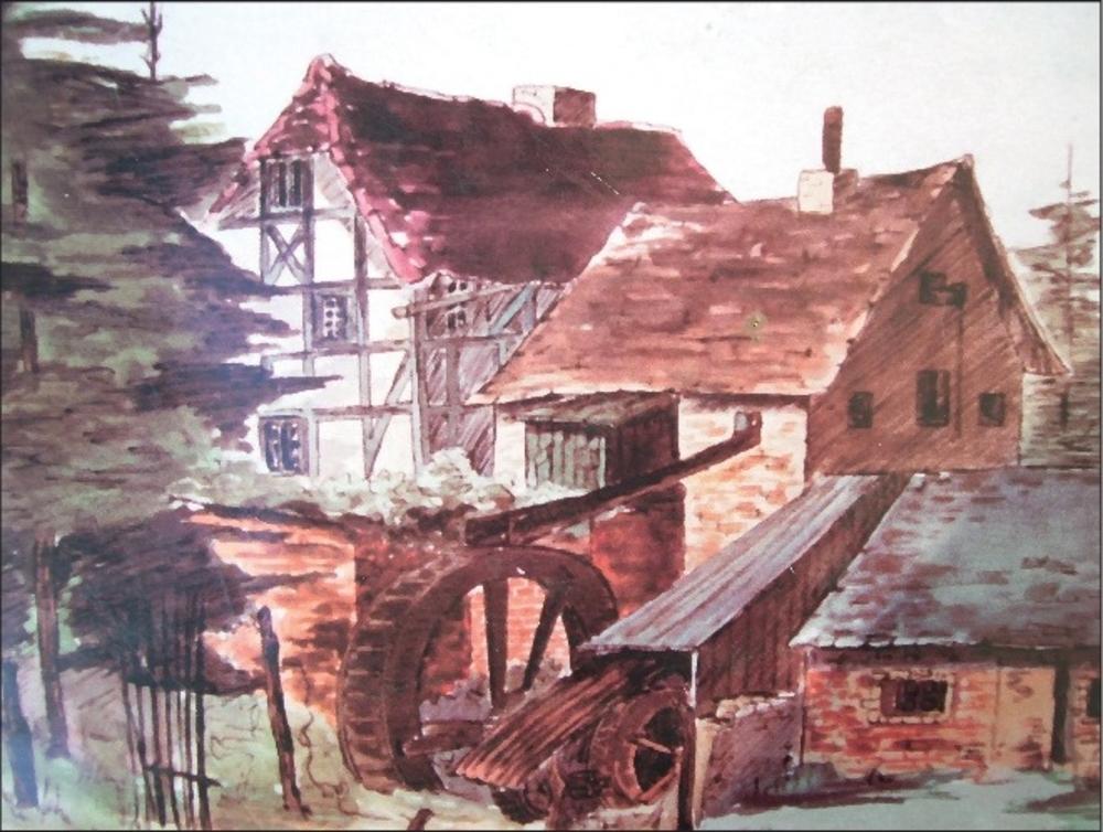 Mühle am Auelsbach 1869