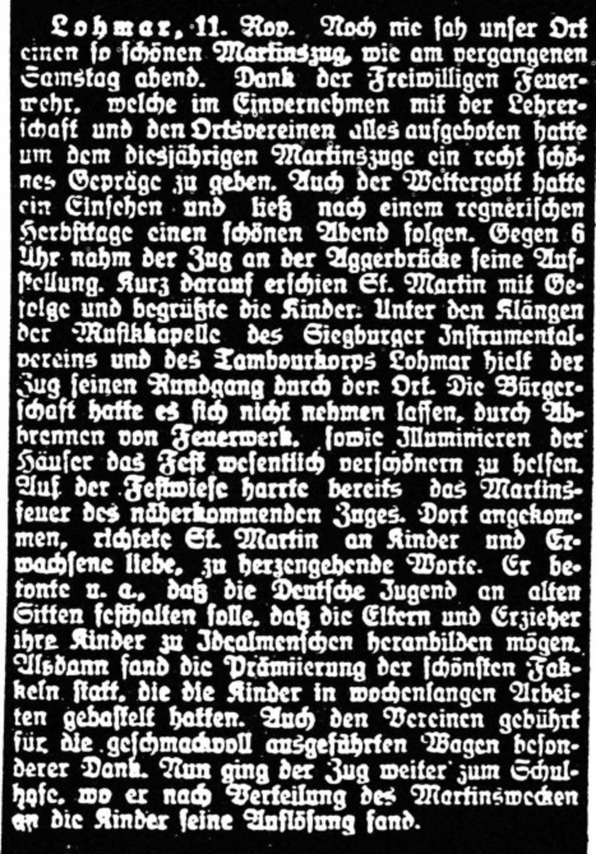 Zeitungsartikel 1929