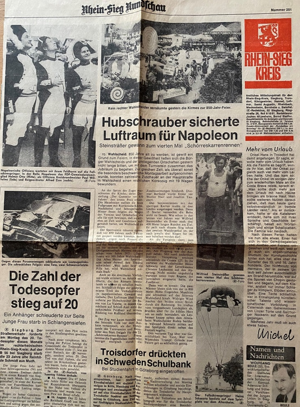 Rhein-Sieg Rundschau Nr. 201, 1971