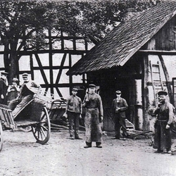 Alte Schmiede Maylahn in Kattwinkel in den Jahren 1909/1910.