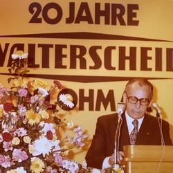 Feier am 5. Nov. 1977 Aula Hauptschule Dankansprache Bernhard Walterscheid-Müller