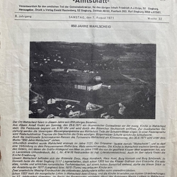 Titelseite Amtsblatt vom 7.8.1971