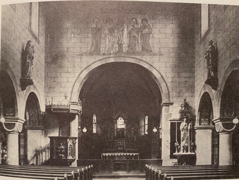 Ineneraum Sankt Johannes um 1930