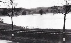 Hochwasser der Agger, von Kirchbach aus gesehen.